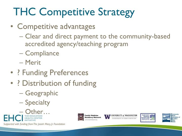 THC Competitive Strategy