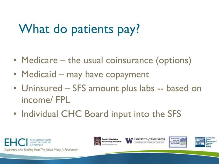 What do patients pay?