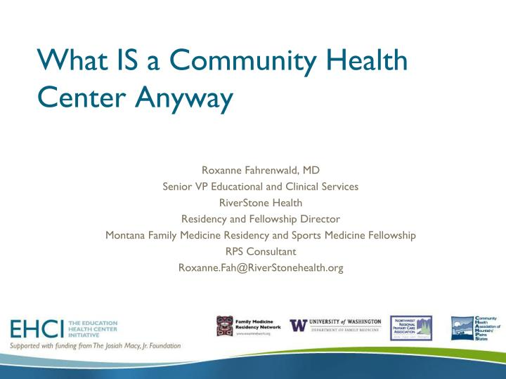 What is a community health center anyway