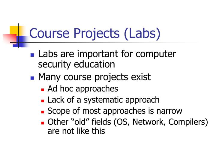 Course projects labs