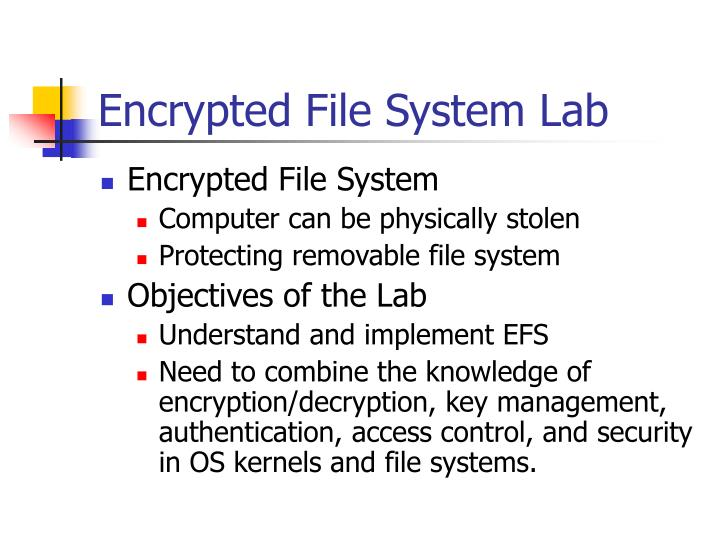 Encrypted File System Lab