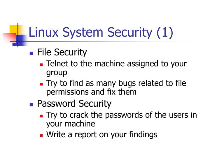 Linux System Security (1)