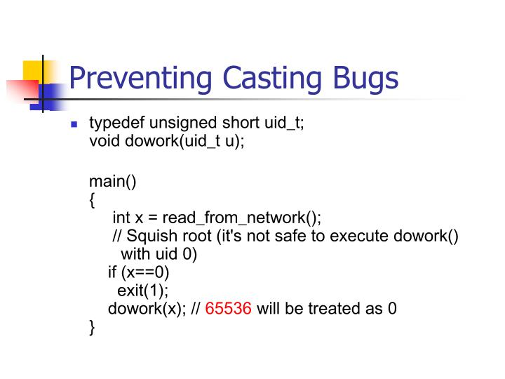 Preventing Casting Bugs