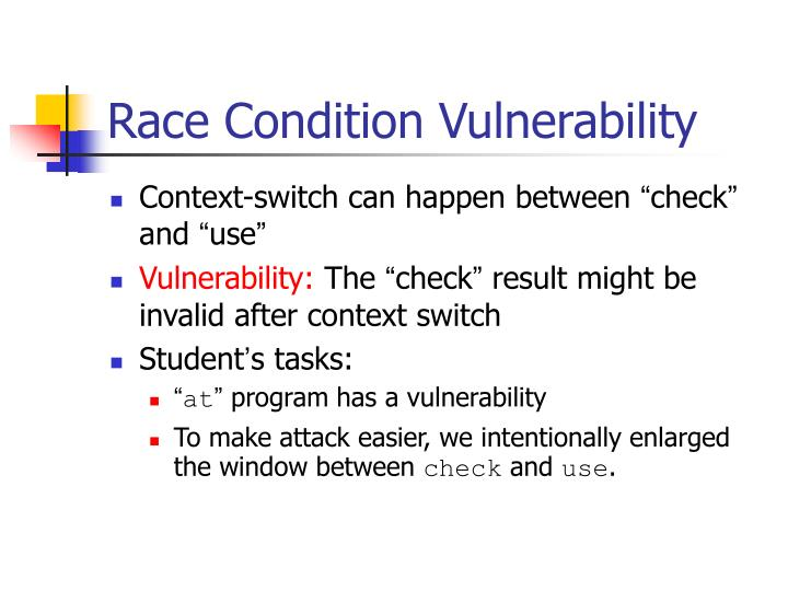 Race Condition Vulnerability