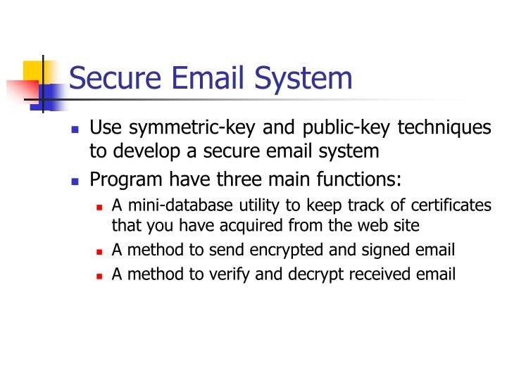 Secure Email System