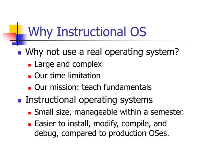 Why Instructional OS