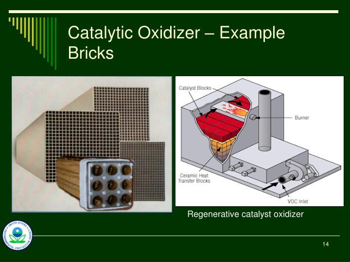 Catalytic Oxidizer – Example Bricks