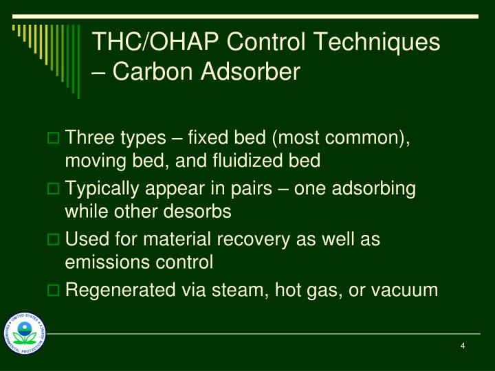 THC/OHAP Control Techniques – Carbon Adsorber