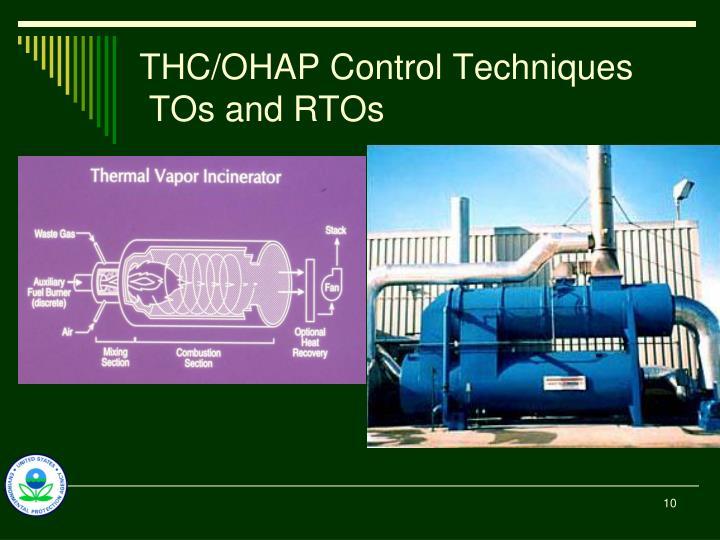 THC/OHAP Control Techniques