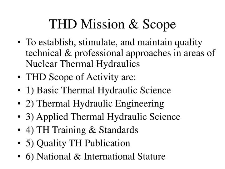 THD Mission & Scope