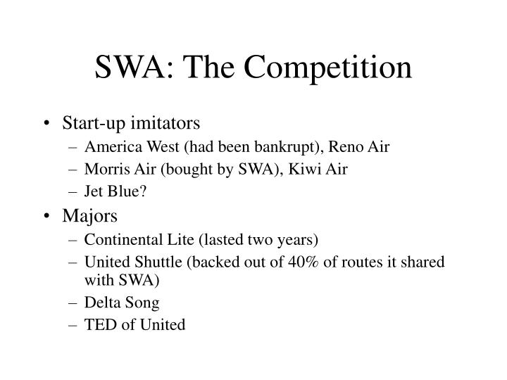SWA: The Competition