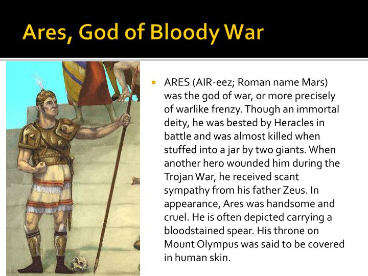 Ares, God of Bloody War