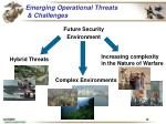 emerging operational threats challenges