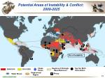 potential areas of instability conflict 2009 2025