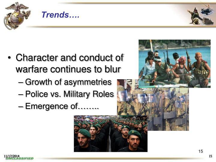 Trends….