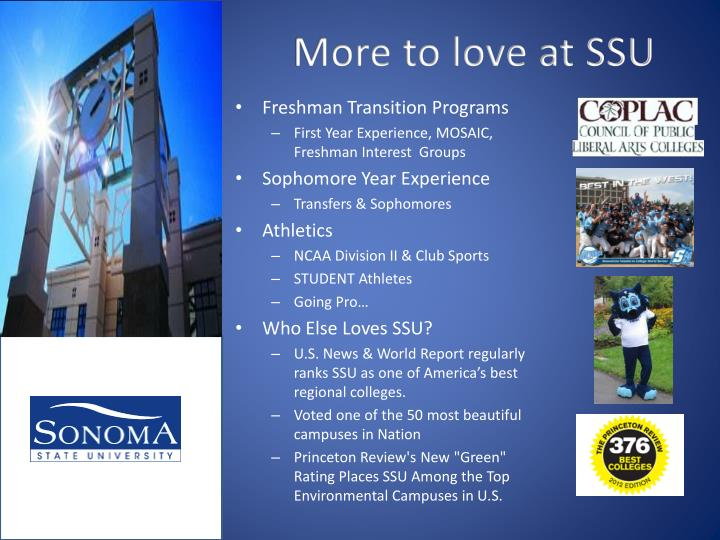 More to love at SSU