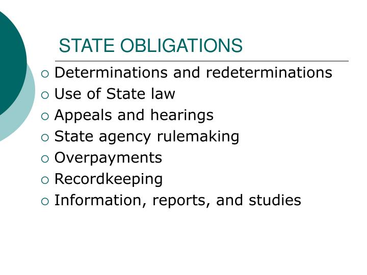 STATE OBLIGATIONS