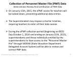 collection of personnel master file pmf data administrator review and certification of pmf data