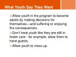 what youth say they want1