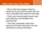 what youth say they want3
