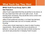 what youth say they want5