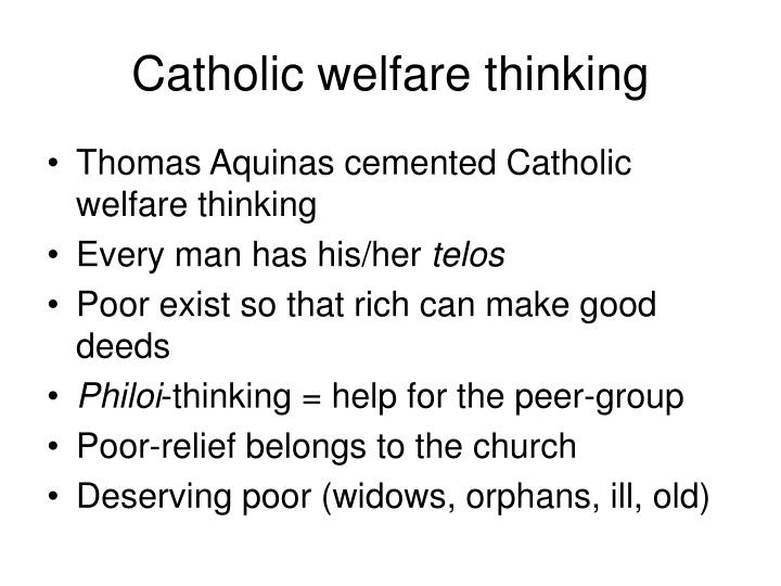 Catholic welfare thinking