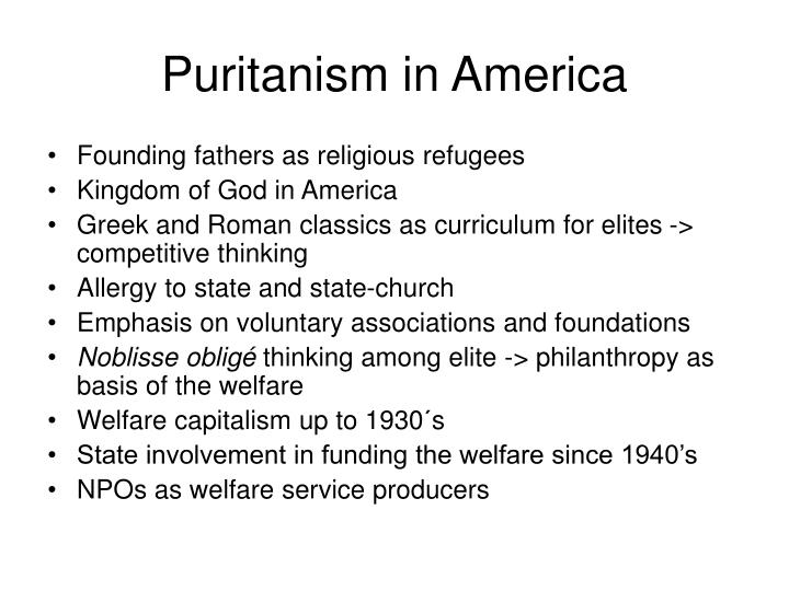 Puritanism in America