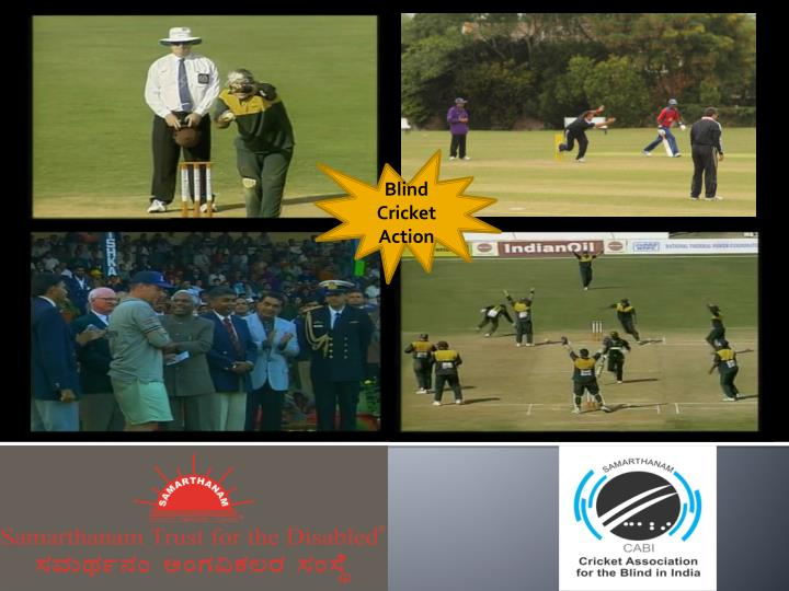 Blind Cricket Action