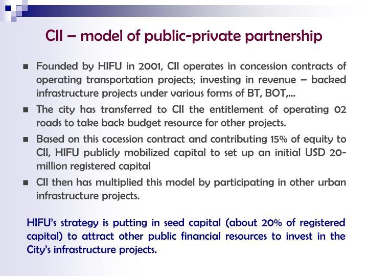 CII – model of public-private partnership