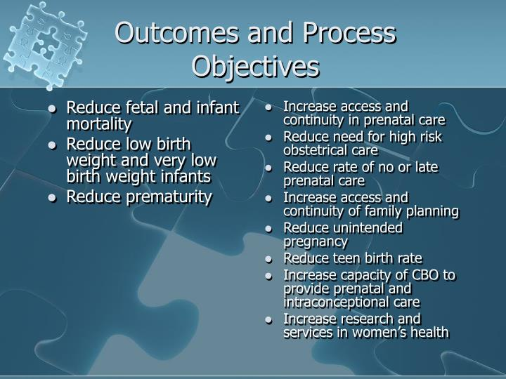 Reduce fetal and infant mortality