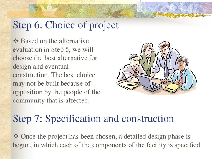 Step 6: Choice of project