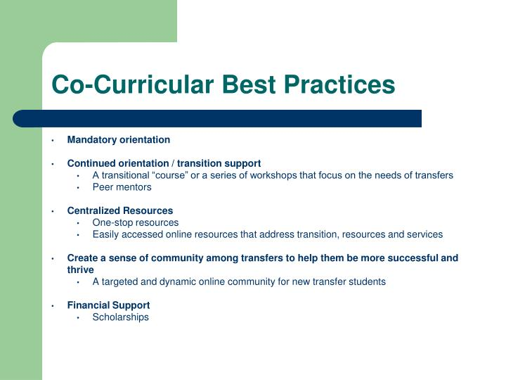 Co-Curricular Best Practices