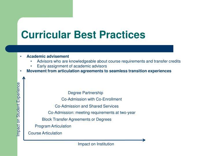 Curricular Best Practices