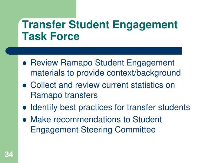 Transfer Student Engagement Task Force