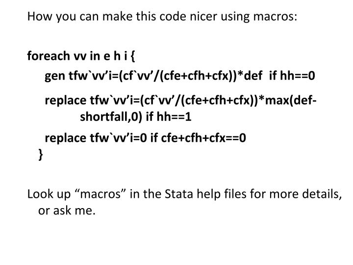How you can make this code nicer using macros: