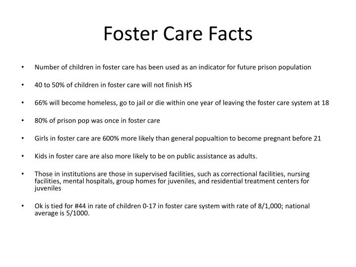 Foster Care Facts