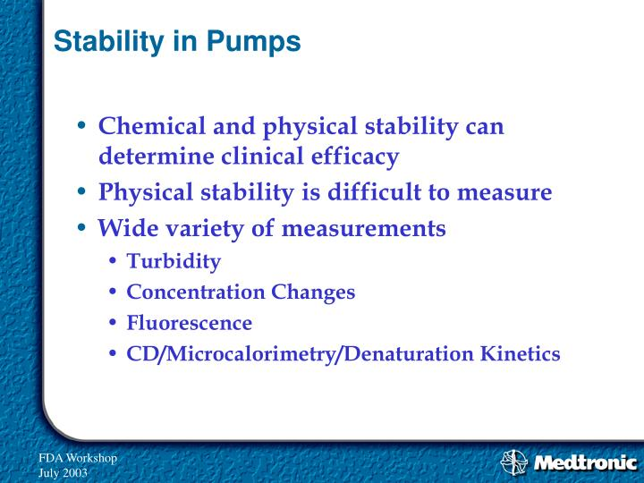 Stability in Pumps
