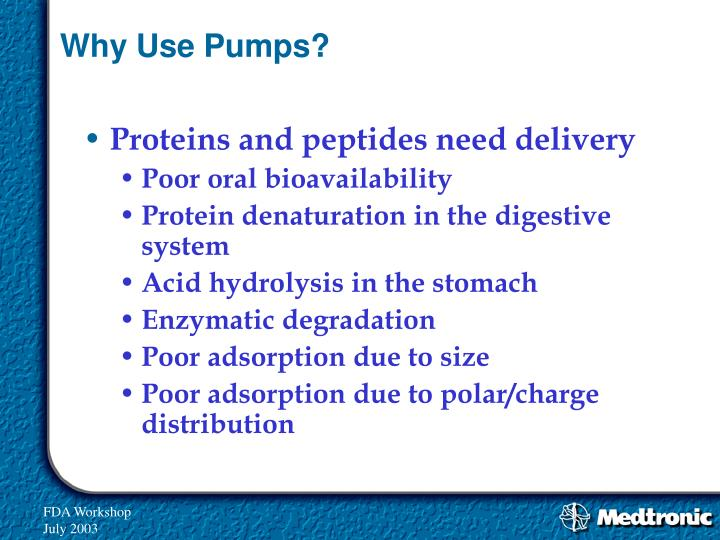 Why Use Pumps?