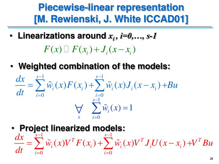 Piecewise-linear representation
