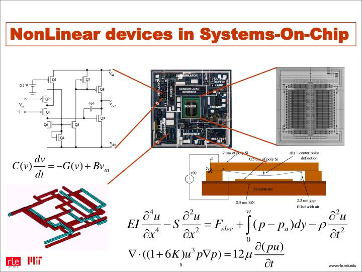 NonLinear devices in Systems-On-Chip