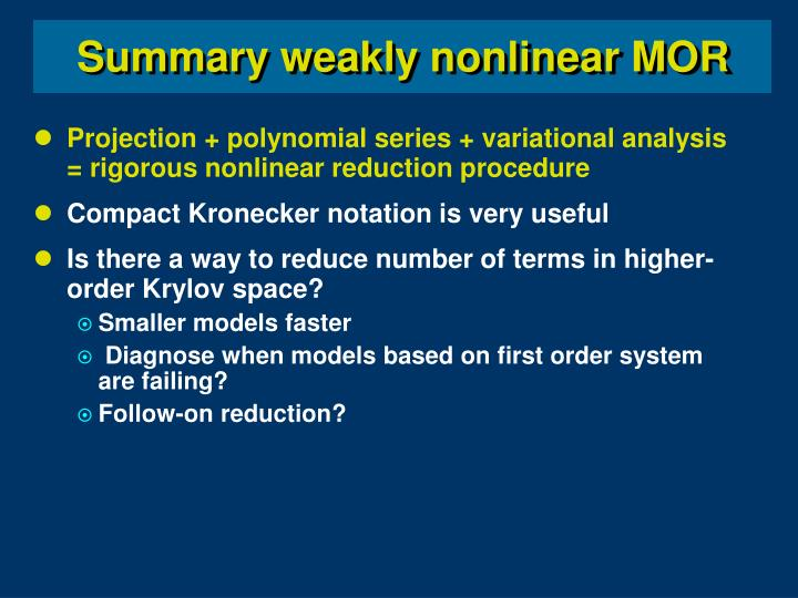 Projection + polynomial series + variational analysis = rigorous nonlinear reduction procedure
