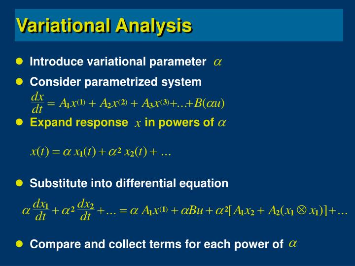 Introduce variational parameter