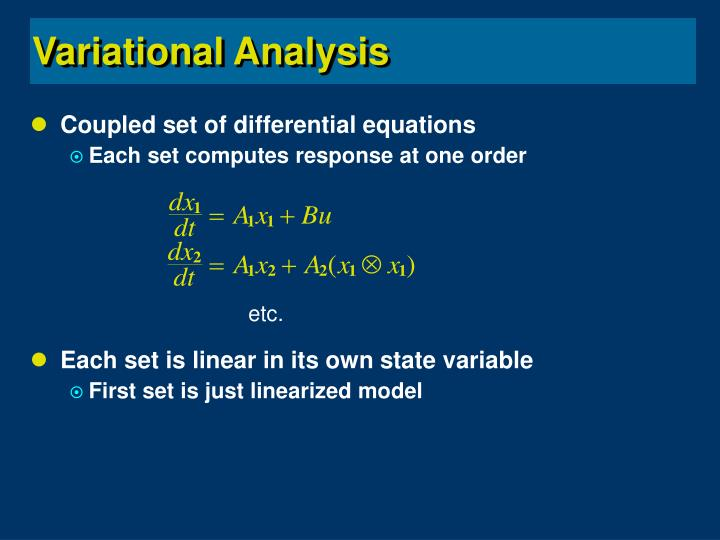 Coupled set of differential equations