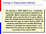 change in depreciation method1