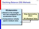 declining balance db methods