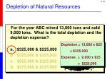 depletion of natural resources6