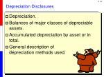 depreciation disclosures