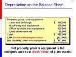 depreciation on the balance sheet