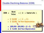 double declining balance ddb2