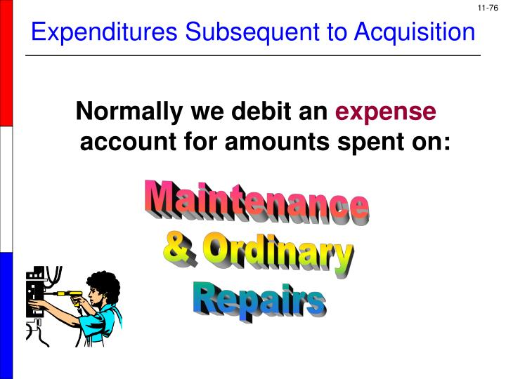 Expenditures Subsequent to Acquisition